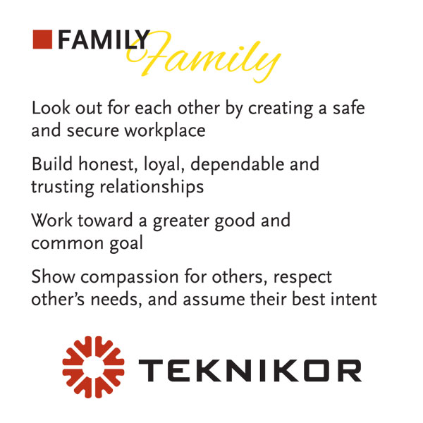 Family is a core value at Teknikor